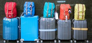 Matkalaukkuja lentokentällä